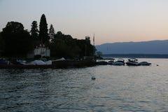 Άποψη σχετικά με τη λίμνη Leman Στοκ Φωτογραφίες