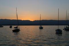 Άποψη σχετικά με τη λίμνη Leman Στοκ εικόνες με δικαίωμα ελεύθερης χρήσης