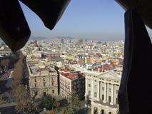 Άποψη σχετικά με τη Βαρκελώνη στοκ φωτογραφίες