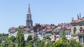 Άποψη σχετικά με τη γοητευτική παλαιά πόλη της Βέρνης, Ελβετία Στοκ εικόνες με δικαίωμα ελεύθερης χρήσης