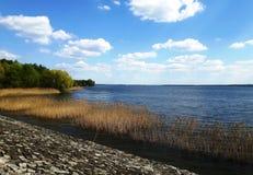 Άποψη σχετικά με τη λίμνη Turawskie το καλοκαίρι, Πολωνία στοκ εικόνα