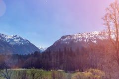 Άποψη σχετικά με τη λίμνη Walchensee από την κορυφή Herzogstand στοκ εικόνα με δικαίωμα ελεύθερης χρήσης