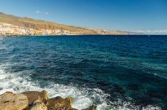 Άποψη σχετικά με τη νότια παράλια Tenerife Στοκ Εικόνα