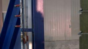Άποψη σχετικά με τη σκιά του τρεξίματος της μηχανής παραγωγής φιλμ μικρού μήκους