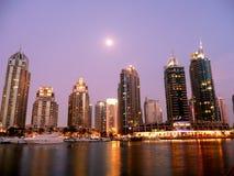Άποψη σχετικά με τον κόλπο μαρινών στο Ντουμπάι Στοκ Εικόνες