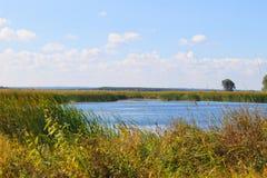 Άποψη σχετικά με τον ποταμό Dnieper Στοκ Εικόνα