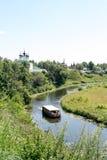 Άποψη σχετικά με τον ποταμό Kamenka Στοκ φωτογραφίες με δικαίωμα ελεύθερης χρήσης