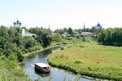 Άποψη σχετικά με τον ποταμό Kamenka Στοκ Εικόνα
