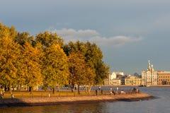 Άποψη σχετικά με τον ποταμό Neva, Αγία Πετρούπολη, Ρωσία Στοκ Εικόνες