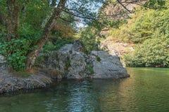 Άποψη σχετικά με τον όμορφο ποταμό Ardeche Στοκ εικόνες με δικαίωμα ελεύθερης χρήσης