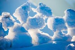 Άποψη σχετικά με τους φραγμούς πάγου στο ηλιοβασίλεμα Στοκ Φωτογραφία