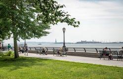 Άποψη σχετικά με το άγαλμα της ελευθερίας Στοκ Φωτογραφία