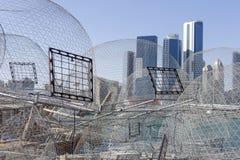 Άποψη σχετικά με το Αμπού Ντάμπι από το λιμάνι αλιείας στοκ φωτογραφίες με δικαίωμα ελεύθερης χρήσης