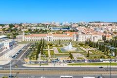 Άποψη σχετικά με το Βηθλεέμ και το μοναστήρι Jeronimos, Λισσαβώνα Στοκ εικόνα με δικαίωμα ελεύθερης χρήσης