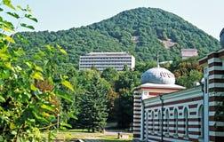 Άποψη σχετικά με το βουνό σιδήρου στοκ εικόνα με δικαίωμα ελεύθερης χρήσης