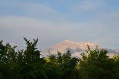 Άποψη σχετικά με το βουνό Tahtali, κοντά σε Antalya Στοκ εικόνα με δικαίωμα ελεύθερης χρήσης