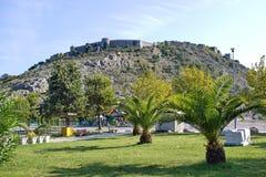 Άποψη σχετικά με το διάσημο φρούριο Rozafa σε Shkoder, Αλβανία Στοκ εικόνα με δικαίωμα ελεύθερης χρήσης