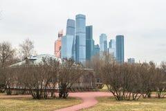 Άποψη σχετικά με το διεθνές επιχειρησιακό κέντρο MIBC της Μόσχας από Fili Στοκ εικόνες με δικαίωμα ελεύθερης χρήσης