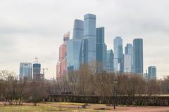 Άποψη σχετικά με το διεθνές επιχειρησιακό κέντρο MIBC της Μόσχας από Fili Στοκ φωτογραφία με δικαίωμα ελεύθερης χρήσης