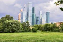 Άποψη σχετικά με το διεθνές επιχειρησιακό κέντρο MIBC της Μόσχας από Fili Στοκ φωτογραφίες με δικαίωμα ελεύθερης χρήσης