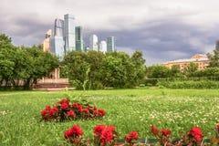Άποψη σχετικά με το διεθνές επιχειρησιακό κέντρο MIBC της Μόσχας από Fili Στοκ εικόνα με δικαίωμα ελεύθερης χρήσης