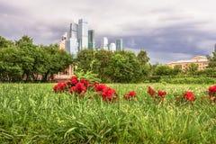 Άποψη σχετικά με το διεθνές επιχειρησιακό κέντρο MIBC της Μόσχας από Fili Στοκ Εικόνα
