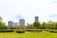 Άποψη σχετικά με το διεθνές κέντρο της Βιέννης στοκ φωτογραφία με δικαίωμα ελεύθερης χρήσης