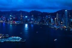 Άποψη σχετικά με το λιμάνι Βικτώριας στο Χονγκ Κονγκ Στοκ φωτογραφίες με δικαίωμα ελεύθερης χρήσης