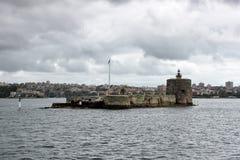 Άποψη σχετικά με το λιμάνι του Σίδνεϊ τη συννεφιάζω θυελλώδη ημέρα Στοκ Φωτογραφίες