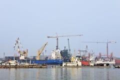 Άποψη σχετικά με το λιμένα Tianjin, Κίνα Στοκ Φωτογραφία