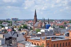Άποψη σχετικά με το ιστορικό κέντρο Schwerin Στοκ φωτογραφία με δικαίωμα ελεύθερης χρήσης