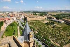 Άποψη σχετικά με το κέντρο Ujue, Ναβάρρα, Ισπανία Στοκ φωτογραφία με δικαίωμα ελεύθερης χρήσης