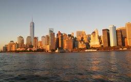 Άποψη σχετικά με το Μανχάταν Νέα Υόρκη Στοκ φωτογραφίες με δικαίωμα ελεύθερης χρήσης