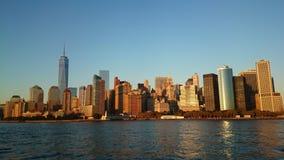 Άποψη σχετικά με το Μανχάταν Νέα Υόρκη Στοκ φωτογραφία με δικαίωμα ελεύθερης χρήσης