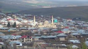 Άποψη σχετικά με το μουσουλμανικό τέμενος Juma σε Shamakha φλυάρων απόθεμα βίντεο