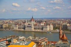 Άποψη σχετικά με το ουγγρικό Parlament Στοκ Εικόνες