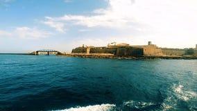 Άποψη σχετικά με το οχυρό Άγιος Elmo και τον κυματοθραύστη του ST Elmo απόθεμα βίντεο