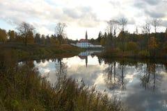 Άποψη σχετικά με το παλάτι κοινοβίων Στοκ φωτογραφία με δικαίωμα ελεύθερης χρήσης