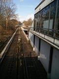 Άποψη σχετικά με το σταθμό μετρό στοκ εικόνα με δικαίωμα ελεύθερης χρήσης