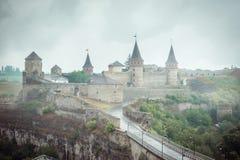 Άποψη σχετικά με το φρούριο kamenetz-Podolsky στοκ εικόνα