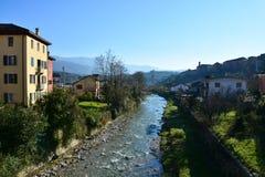 Άποψη σχετικά με το χείμαρρο Ardo, Belluno, Ιταλία στοκ φωτογραφίες με δικαίωμα ελεύθερης χρήσης