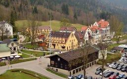 Άποψη σχετικά με το χωριό Hohenschwangau, Βαυαρία, Γερμανία Στοκ φωτογραφία με δικαίωμα ελεύθερης χρήσης