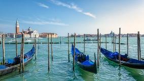 Άποψη σχετικά με το SAN Giorgio Maggiore από το κύριο νησί, Βενετία Στοκ Φωτογραφίες