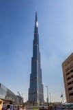 Άποψη σχετικά με Burj Khalifa, Ντουμπάι, Ε.Α.Ε., τη νύχτα Στοκ φωτογραφία με δικαίωμα ελεύθερης χρήσης