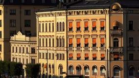 Άποψη σχετικά με Gamla Stan στη Στοκχόλμη πόλη παλαιά Σουηδία απόθεμα βίντεο