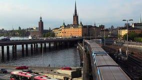 Άποψη σχετικά με Gamla Stan στη Στοκχόλμη πόλη παλαιά Σουηδία φιλμ μικρού μήκους
