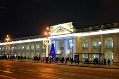 Άποψη σχετικά με Nevsky Prospekt τη νύχτα στοκ εικόνα με δικαίωμα ελεύθερης χρήσης