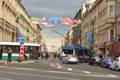 Άποψη σχετικά με Nevsky Prospekt Στοκ φωτογραφία με δικαίωμα ελεύθερης χρήσης