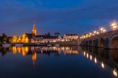 Άποψη σχετικά με Wijck στο Μάαστριχτ, οι Κάτω Χώρες στοκ εικόνες