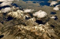 Άποψη σύννεφων βουνών του Ariel Στοκ Εικόνες